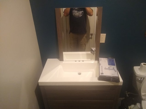 Bathroom Vanity Against The Side Wall Or 2 Gap