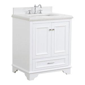 Nantucket Bath Vanity, Base: White, 30