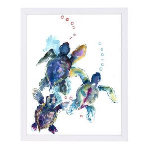 """Baby Sea Turtles 3,"" Art Print, 19""x25""x1"""