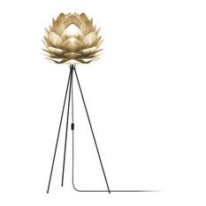 "Silvia 60"" Tripod Floor Lamp, Black/Brushed Brass"