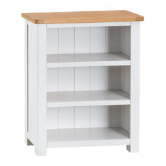 Portland Painted Oak Small Bookcase, White