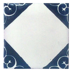 "Mexican Decorative Accessories - 4""x4"" Mexican Ceramic Handmade Tile #C078 - Wall and Floor Tile"