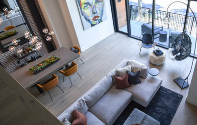 Houzz Tour: Whiskey and Leather Transform a Modern Montana Loft
