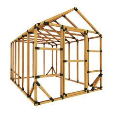 8ft W x 12ft D E-Z Frame Standard Storage Shed Kit, No Floor