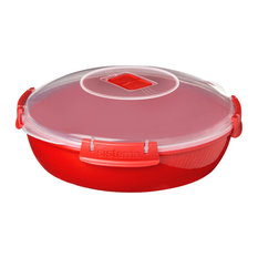 Sistema Microwave Round Plate, Red 1.3 l.