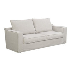 Serta At Home Colton Sofa With Slipcover Light Beige Sofas