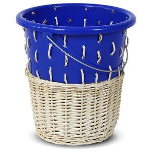 Bow Wastepaper Bin No.1, Bay Blue