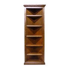 Forest Designs Furniture Traditional Oak Corner Bookcase Bookcases