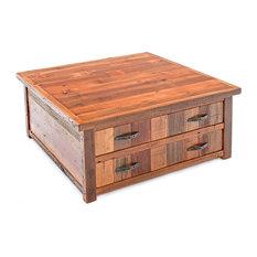 Beau Woodland Creek Furniture Gallery   Reclaimed Barn Wood Coffee Table In  Vintage Colors, Two Drawers