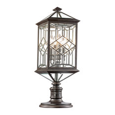 Fine Art Lamps Oxfordshire Collection Outdoor Adjustable Pier/Post Mount