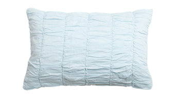 Sophie Ruched Aqua Bolster Pillow