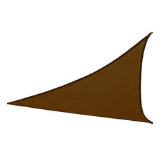 Premium Clevr Sun Shade Canopy Sail 16.5'x16.5'x16.5' Triangle, Outdoor, Brown