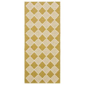 Dialog Woven Vinyl Floor Cloth, Yellow, 150x200 cm