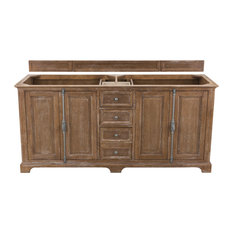 Providence 72-inch Double Vanity Cabinet Driftwood Cabinet Only