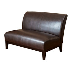 gdfstudio massimo leather love seat brown loveseats