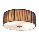 Ceiling Lamp Drum Rope Round 30 Dark Grey