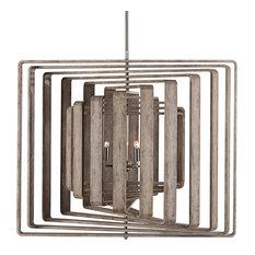 Nellcote Spiral Modern Classic White Wood 11 Layer Chandelier