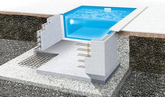 Poolstomme rektangulär Thermo / betongpool