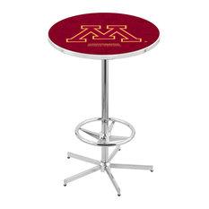 L216 - 42-inch Chrome Minnesota Pub Table By Holland Bar Stool Co.