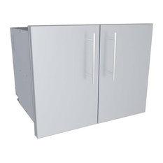 "SUNSTONE - Designer Series, Raised Style, 30"" Double Door Dry Storage Pantry - Grill Tools & Accessories"