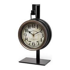 "Metal Table Clock ""Taxz"" by Mercana"