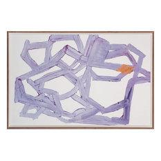 """""""Violet Abstract"""" Artwork, Framed"""