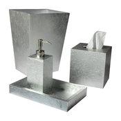 EOS 5-Piece Silver Leaf Bath Set