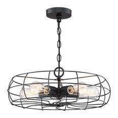 50 most popular cage chandeliers for 2018 houzz kira home revelkira home hudson industrial 5 light cage fixture chandelier aloadofball Gallery