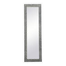 Rectangle Mirror 18 Inch In Chevron