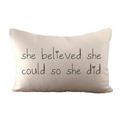 She Believed She Could So She Did - Pillow, With Insert
