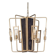 """Madeira 25"""" 24W 6 LED Chandelier Rustic Gold"""