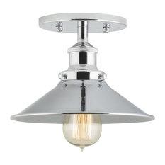 linea di liara andante industrial semi flushmount ceiling lamp polished flushmount