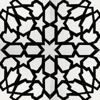Bahja Handmade Cement Tile, White, Black, Set of 12
