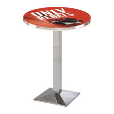 L217 - 42-inch Chrome UNLV Pub Table With 36-inch Dia. Top By Holland Bar Stool Co.