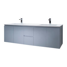 Vanity Adams 60 Double Sink With Quartz Stone, Espresso, White Quartz Countertop