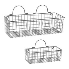 DII Wire Wall Basket, Set of 2 Gray