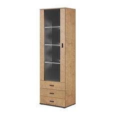 Soho S1 1D3S Modular 1 Door Modern 24-inch Wide Bookcase