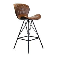 Kenton Modern Bar Stool, Brown