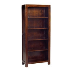 Santiago Dark Mango Wood Large Open Bookcase