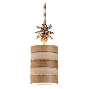 1-Light Mini Pendant, Cream and Tan