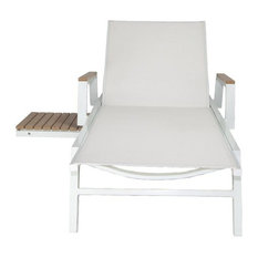 Riviera Outdoor Lounge Chair, White