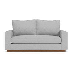 Harper Apartment Size Sofa Silver 74-inchx36-inchx30-inch