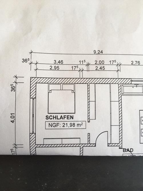 Hausbau Grundriss Schlafzimmer-Ankleide