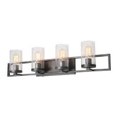 LNC 4-Light Glass Wall Sconces Bathroom Wall lights Rustic Vanity Light