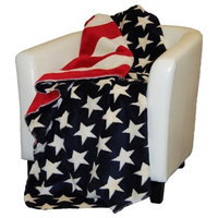 Denali Home Collection Stars With Stripes Double Sided Microplush Throw