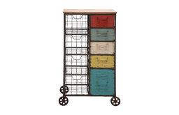 The Wonderful Metal Wood Storage Cart