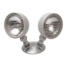 NICOR 7.2W Dual Head Weatherproof Indoor/Outdoor Emergency Remote Lamp Fixture