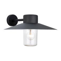 Fenwick Single Outdoor Wall Light, Black