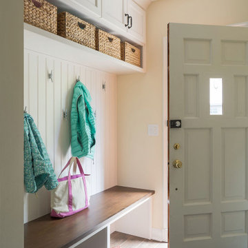 Traditional White Kitchen & Mudroom Remodel