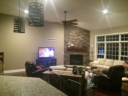 Corner Fireplace Living Room Furniture Placing